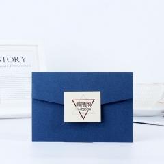 佳妍  公司会议邀请函商务活动请帖创意开业纪念节日请柬10张蓝色款