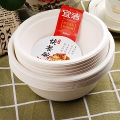 宜洁 纸碗户外一次性可降解纸碗500ml碗(10只/袋)Y-9718