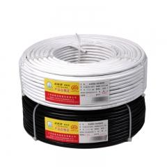 起帆(QIFAN)电线电缆 RVV2*1.5平方国标电源信号传输用2芯铜芯软护套线 白色100米