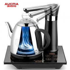 澳柯玛(AUCMA)自动上水电热水壶 304不锈钢 自动旋转免开盖 烧水壶 ADK-1350J1 0.8L电水壶 黑色