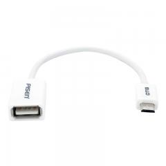 品胜 OTG数据线 安卓转接头线 Micro USB接口安卓手机平板U盘连接线转换器 支持华为小米三星vivo 150mm白