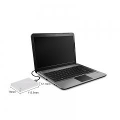 希捷(Seagate) 2TB USB3.0 移动硬盘 睿品 2.5英寸 金属面板 自动备份 兼容Mac 轻薄便携 高速传输 珍珠白