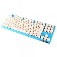 影级(iNSIST)Designer 87键侧刻机械键盘 Cherry樱桃茶轴 游戏键盘 吃鸡键盘 蔚蓝色 办公笔记本电脑键盘