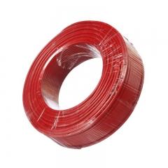 金山(JINSHAN)国标阻燃单芯多股塑铜软线 电线 电缆ZR-BVR1平方 红200米/盘