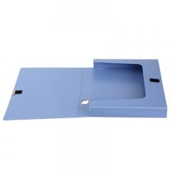 齐心(Comix) A4 35mm粘扣档案盒/文件盒/资料盒 蓝色 A1248