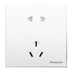 松下( Panasonic) 开关插座面板 五孔插座面板 10A5孔墙壁墙面插座 悦宸系列86型 WMWM122 白色