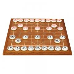 御圣3.5分黄金色亚克力塑料象棋折叠象棋套装