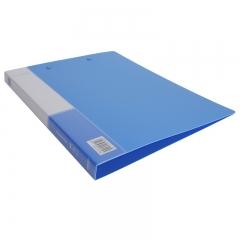 得力(deli)6只A4双强力夹文件夹 实用资料夹 蓝33222