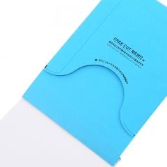 日本国誉(KOKUYO)TidbiT自由撕便签便条纸 5mm方格 A6/80页(150*100mm) 蓝 1本装 ME-F32B