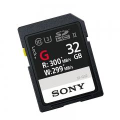 索尼(SONY)32G存储卡 SF-G32 SDHC UHS-II 内存卡/SD卡 300MB/S读取速度