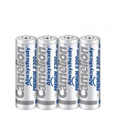 飞狮(Camelion)低自放镍氢充电电池高容量 5号/五号/AA 2300毫安时4节 鼠标/麦克风/剃须刀