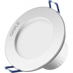 欧普照明(OPPLE)led筒灯 3W超薄桶灯客厅吊顶天花灯过道嵌入式洞灯孔灯 PC开孔7-8厘米