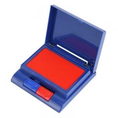 晨光(M&G)文具红蓝双色半自动印台财务专用便携秒干印油 单个装AYZ97515