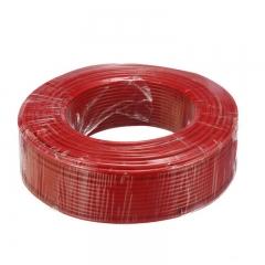 金山(JINSHAN)国标阻燃单芯塑铜线 硬线 电线 电缆 ZR-BV4平方 红100M/盘