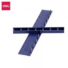 得力(deli)3830 10孔装订夹条  17.5mm  100支/盒装颜色随机