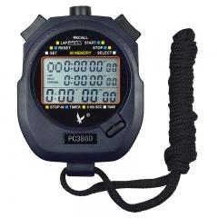 天福多功能秒表计时器闹钟电子户外运动裁判田径跑步比赛专用记忆三排60道PC3860
