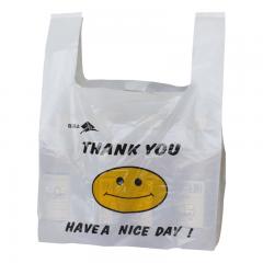 京惠思创 【加厚无异味】背心袋 手提袋 25*40cm100只 透明笑脸购物袋食品打包袋JH0963
