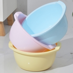 妙然大号加厚加深洗脸盆婴儿盆耐摔家用37cm泡脚塑料盆洗菜盆
