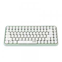黑爵(AJAZZ)308i 键盘 无线蓝牙键盘 办公键盘 伴夏套装圆形朋克84键 安卓苹果笔记本电脑键盘 薄荷绿