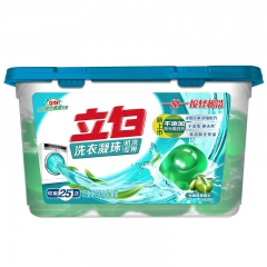 立白洗衣凝珠机洗专用25颗/盒 非洗衣液 含橄榄果精华 4倍净洁力
