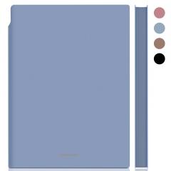 得力(deli)A5/112张莫兰迪色系可插笔皮面本 肤感雅致记事本日记本笔记本子文具 22290蓝色