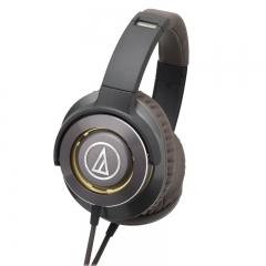 铁三角 WS770iS 便携式重低音头戴耳机 金棕 HIFI 智能手机耳麦