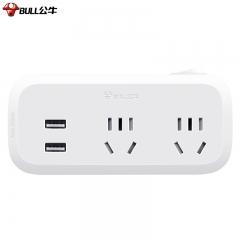 公牛(BULL)USB一转多插座/插排/插板/插头转换器/无线扩展插座 总控一转二带USB插座 GN-934Q