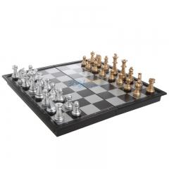 友邦UB国际象棋磁石象棋棋盘3810A 金银色棋子 棋盘尺寸25*25cm