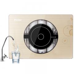 海尔(Haier)净水器 家用 直饮超滤机 HU102-5不插电无废水厨下式无桶净水机 厨房自来水过滤器