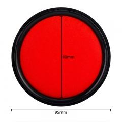得力(deli)φ95mm圆形塑壳秒干印台印泥 办公用品 红色9870