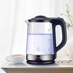 美的(Midea)电水壶热水壶电热水壶玻璃水壶高硼硅玻璃电水壶烧水壶MK-GJ1702