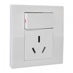 西门子(SIEMENS)开关插座 悦动系列 16A三孔带开关面板 空调热水器插座(雅白色)