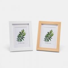 FOOJO实木相框挂墙 摆台 装饰画框照片墙 7寸原木色(含画芯)
