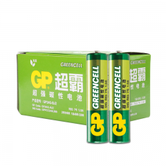 超霸(GP)7号碳性电池干电池40粒装 适用于闹钟/遥控器/手电筒/收音机等 AAAR03