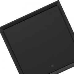 施耐德电气(Schneider Electric)开关插座面板 一开双控 带荧光指示开关 皓朗系列 深空灰色C2E31L2_BG