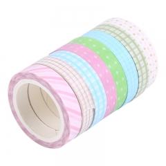 晨光(M&G)素纹系列7mm*5m手工易撕手账和纸胶带 8个装AJD99540