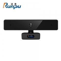 润普(Runpu)视频会议摄像头/高清USB网络摄像头/网络课程远程教育/带麦克风台式机电脑摄像头RP-C910