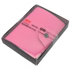 信发(TRNFA) TB-1-01 (粉色) 高级皮面卡皮包男女多卡位卡包 银行卡套 商务名片册名片夹时尚防消磁卡包