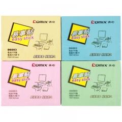 齐心(COMIX)D6003 便利贴/便签纸/便签本/易事贴/百事贴(76x101mm)12本 颜色随机