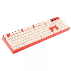 影级(iNSIST)Designer 104键侧刻机械键盘 Cherry樱桃青轴 游戏键盘 西瓜红 吃鸡键盘 电脑键盘笔记本键盘