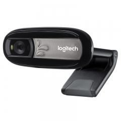 罗技(Logitech)C170 网络摄像头 黑色 多人通话 网络课程 远程教育