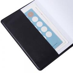 得力(deli)32K80张商务经典皮面本 办公会议记事本笔记本子文具 黑7902