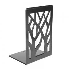 晨光(M&G)文具6.8英寸黑色学生书立 书架书夹 金属树影铁制创意挡书板 2个装ABS91718