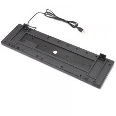 现代(HYUNDAI)有线键盘USB无边框键盘 笔记本台式电脑通用键盘黑色HY-KA7黑色
