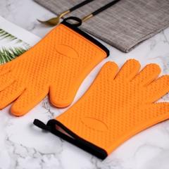 拾画  防烫硅胶手套 微波炉烤箱耐高温厨房防热五指加棉隔热手套 2只装SH-6365