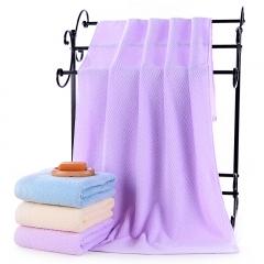 北极绒毛巾浴巾 纯棉大浴巾 加大加厚成人男女婴儿童全棉柔软吸水洗澡巾 水纹紫色70*140cm