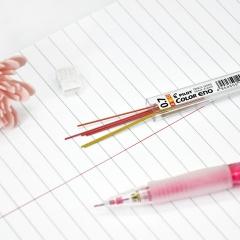 日本百乐(PILOT)彩色活动铅笔芯/自动铅芯 0.7mm红/黄/橙 3色6根装 PLCR-7-RYO原装进口