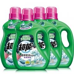 超能 植翠低泡洗衣液(时尚炫彩)1.5kg*4瓶 整箱装(新老包装随机发货)