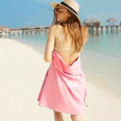 拓胜(TOSWIM) 游泳毛巾 运动吸水巾 成人温泉沙滩浴巾 旅游速干巾 浪漫粉