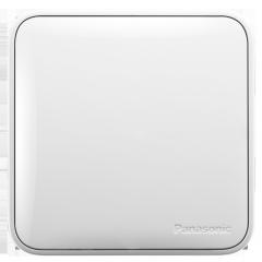 松下( Panasonic)开关插座面板 一开单控开关面板 单开单控墙壁开关 格彩系列86型 WPC501 白色